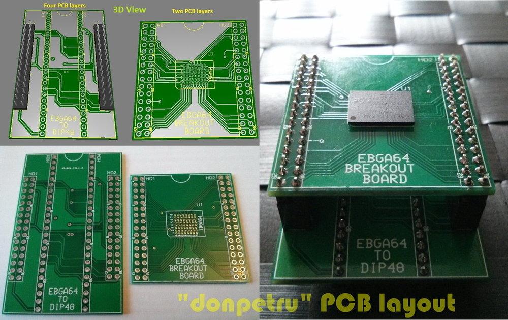 EBGA64 to DIP48 adapter & EBGA64 breakout board_foto 1.jpg